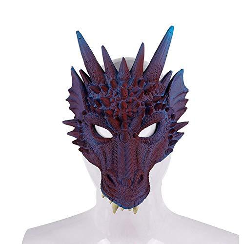 Wanyudz Novelty Fancy Dress Dragon Mask Party Garland Dragon Half Face Mask Adult Unisex Halloween Decorations