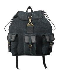 Rothco Canvas/Leather Wayfarer Backpack, Black,One Size