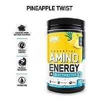 Optimum Nutrition Essential Amino Energy Plus Electrolytes Pineapple Twist, 30 Servings, 285G