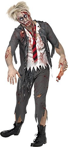 L Horror Zombie School Boy Herren Halloween-Kostüm ()