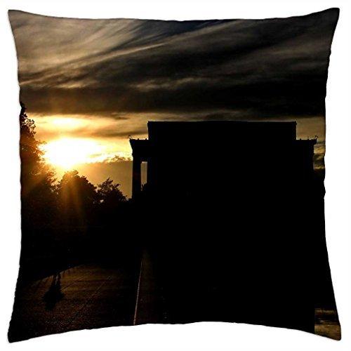 Lincoln Memorial-Throw Pillow Cover Case (45,7x 45,7cm)