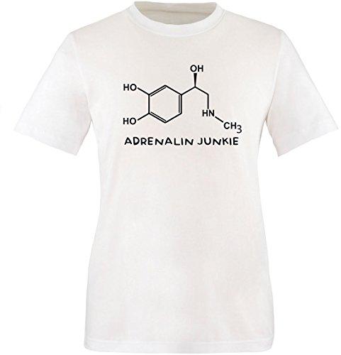 EZYshirt® Adrenalin Junkie Herren Rundhals T-Shirt Weiss/Schwarz
