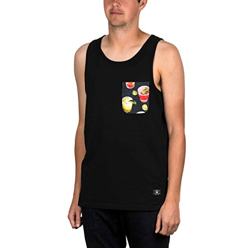 Mens Rib Knit Tanks (DC Vests - DC Griffin Jet Tank - Black Cocktail.)