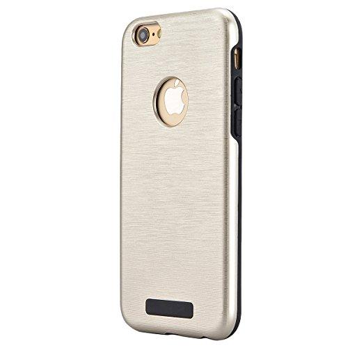 HB-Int 3 in 1 Case Cover Duplice Ibrido per iPhone 6 Plus / iPhone 6S Plus (5.5 pollici) Stampato Design PC + Silicone ibrido Impatto Grande Difensore Custodia Combo Duro Morbido Cases Covers [Complet Oro