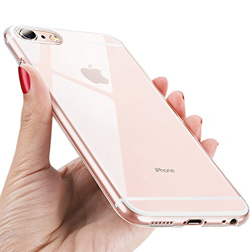 UBEGOOD iPhone 6S Handyhülle, iPhone 6 Hülle Anti-Shock Kratzfeste iPhone 6S Silikon cover Premium TPU Schutzhülle iPhone 6 Bumper Case für iPhone 6S Case Cover-Transparent
