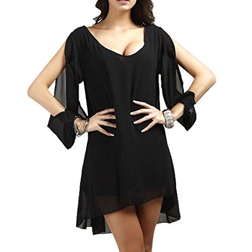 Qiyun 3008S0214–Vestito da donna Nero