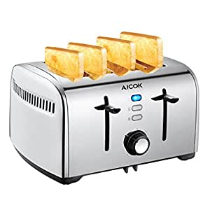 automatik toaster aicok 4 schlitz toaster mit. Black Bedroom Furniture Sets. Home Design Ideas