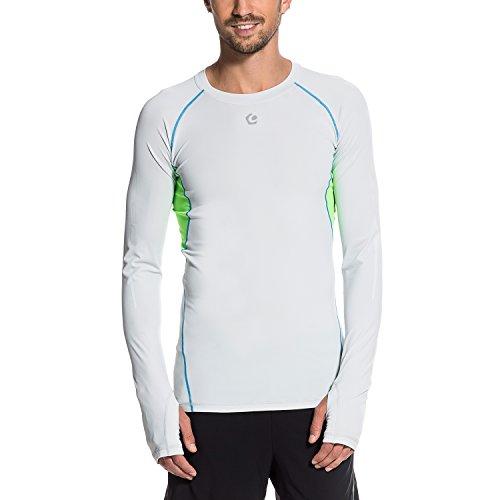 Gregster Herren Kompressions-Shirts Codie, Lightsilver, M, 12521-049
