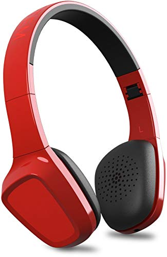 Energy Sistem Energy Headphones 1 Bluetooth - Auriculares de Diadema Cerrados (Bluetooth, Control Talk, Audio-In, bateria hasta 8 Horas, Plegables), Rojo
