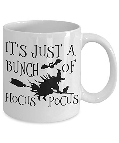 Halloween-Kaffeetasse, witzige Hokus-Pokus-Hexe, Teetasse, Halloween-Liebhaber, Geburtstagsgeschenk für Ihre individuelle einzigartige Tasse Party-Dekoration (Pokus Hokus Hexen)