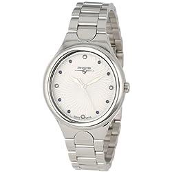 Swisstek Women's SK11215L Purus Eclipse Collection Genuine Diamond and Blue Sapphire Swiss Watch