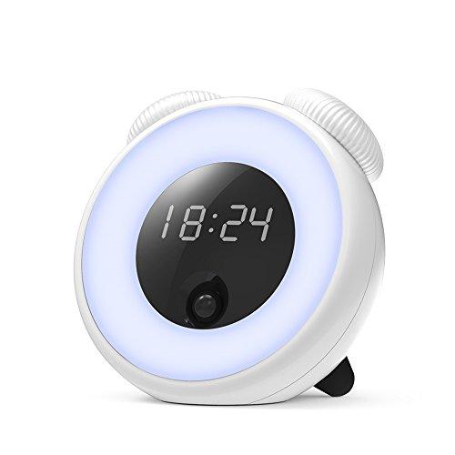 Reloj inteligente con sensor de luz, GAKOV GAYD-208 despertador con luz nocturna, lámpara de noche de LED , luz fantasía ,creativa y romántica. Con regulador de luz
