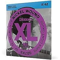 D\'Addario EXL120 - Juego de cuerdas para guitarra eléctrica de níquel, 9-42