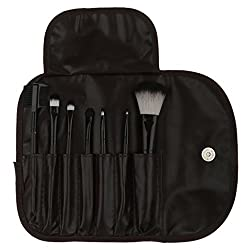 Imported 7pcs Soft Cosmetic Makeup Blush Eyeshadow Brush Set + Pouch Bag Case Coffee