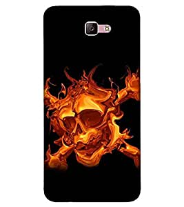 For Samsung Galaxy A3 (2017) fire skull ( ) Printed Designer Back Case Cover By CHAPLOOS