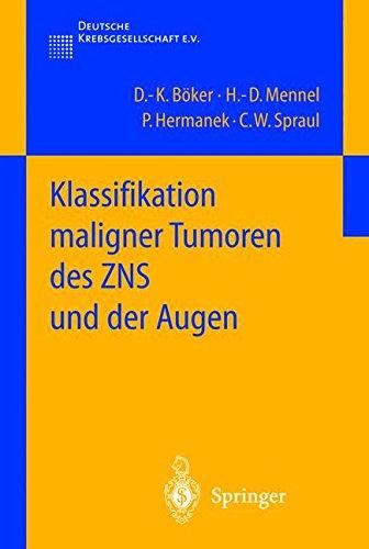 Klassifikation maligner Tumoren des ZNS und der Augen