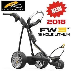 Preisvergleich Produktbild Powakaddy FW3 Lithium Elektrotrolley schwarz mit Zubehör - Model 2016