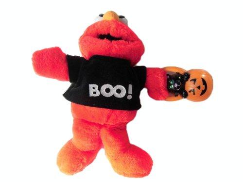 Sesam Straße - Sesame Street - TYCO - Talking Plush Halloween Elmo Doll Sounds Lights - spricht und der Kürbis leuchtet - Gr. ca. 30 (Elmo Kürbis)