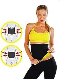 HDK Unisex Cutter and Fat Burner Hot Shaper Sweat Slim Belt (Black)