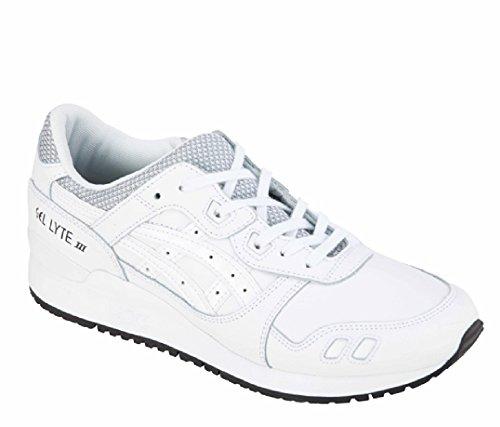 Asics Gel-Lyte Iii, Scarpe da Ginnastica Uomo Bianco (White/White)