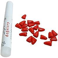 Gugutogo 20pcs Perro antiarañazos Nail Caps Suave Silicona Pata Nail Protectora Nail Protectores