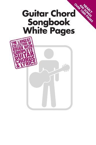 Guitar Chord Songbook White Pages (English Edition)