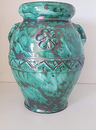 Vasi In Ceramica Di Vietri.Portafiori Vaso Colorato Verde Ramina Per Piante E Fiori