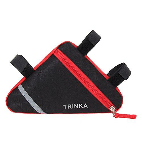 Trendyest Wasserdicht Dreieck Fahrrad Front Tube Rahmen Tasche Satteltasche, Rot