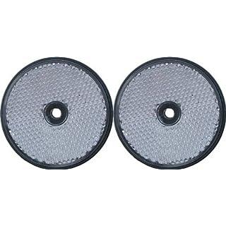 Reflektoren-Set, für Wohnwagen und LKW, zum Anschrauben, Teilenummer - LMX1629, 2 x Weiß -