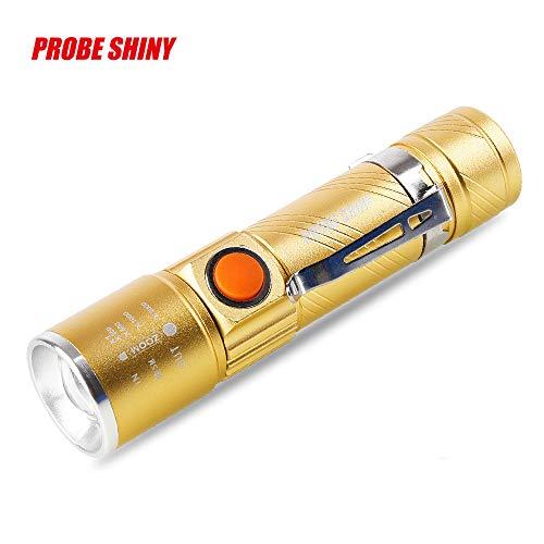 Zariavo Taschenlampe, einstellbare LED Zoom 3000LM MINI USB aufladbare Taschenlampe