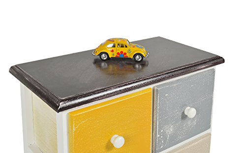 Ts ideen mobiletto cassettiera multicolore stile shabby cassetti