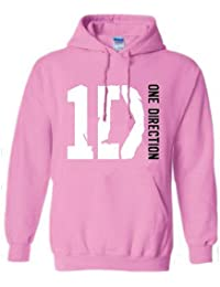One Direction Women's Logo and Name Hooded Long Sleeve T-Shirt