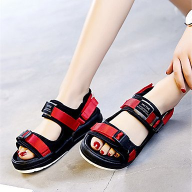 Scarpe Donna Casual donna Sandali estate Creepers Tulle esterna Creepers Rosso Nero US5 / EU35 / UK3 / CN34