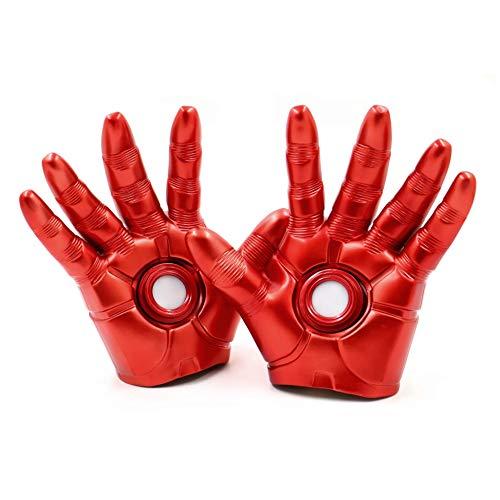 XDXDO Spielzeug Modell Handschuhe Mit Led-leuchten Tragbare Hand Modell Cosplay Ausrüstung Requisiten PVC Action Figure Spielzeug Dekoration - 1: 1 Handschuhe, Kinder (Die Iron Leuchten Man Handschuhe)