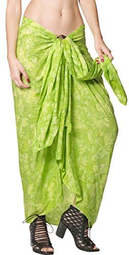LA LEELA Krawatte Strandbadebekleidung Bikini Wickelrock Badebekleidung Strand färben grün verschleiern
