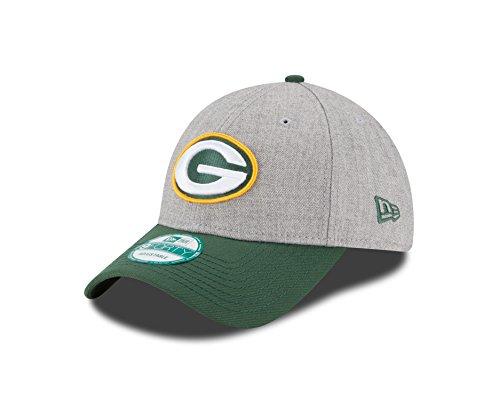 New Era The League Heather Grepac Hgrotc Cap, Grey Med, OSFA (Bay Packers Band Green)