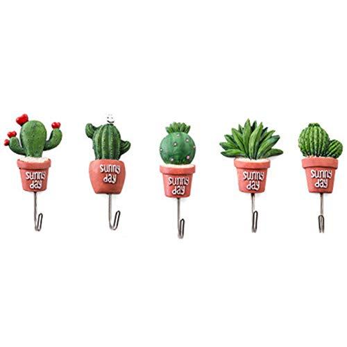 XZANTE 5 Piezas Cactus Maceta Ganchos De Ama De Llaves