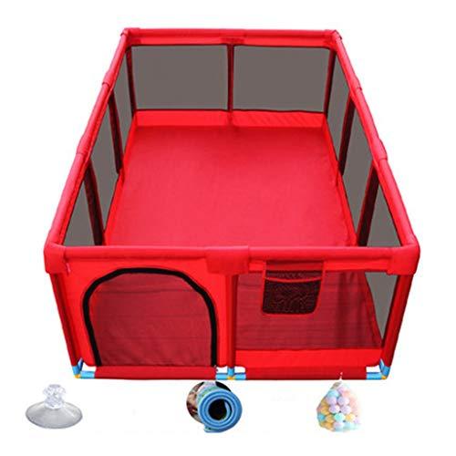 Parque infantil parques bebes Juego de parque infantil y foso para pelota para la zona de juegos de seguridad para bebés y niños pequeños en el interior con 100 bolas incluidas, rojo / azul
