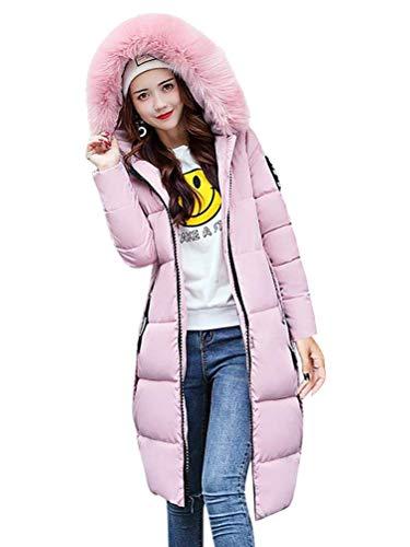 Tomwell donna elegante giacca invernale corta trapuntata da donna piumino giacca con cappuccio calda cappotti rosa it 42