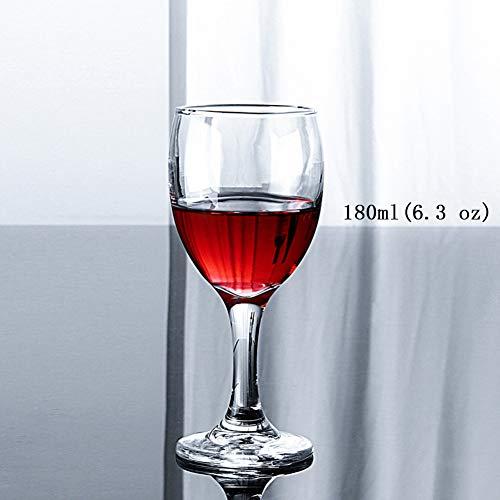 (Tumblers Rotwein Glas klar, Crystal Kelche Dauerhaft, Eco-Friendly & bpa-frei Wiederverwendbar Wasser EIS-Bier Wein Longdrinkgläser Set Satz von 6 Clear-C 180ml(6.3 oz))