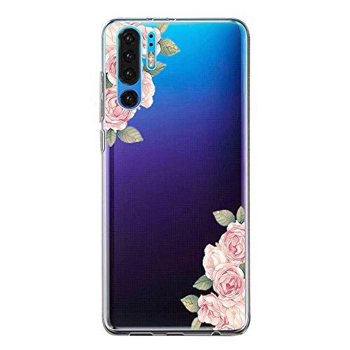 Hülle Case Kompatibel für Huawei P30 Handyhülle,Huawei P30 Pro Schutzhülle Ultradünn Transparent Silikon Soft TPU Crystal Clear Bumpe Schutzhülle für Huawei P30 Lite (1, Huawei P30)