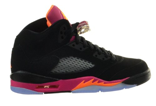 Junior Citrus Air Jordan Bright Chaussures Girl 5 Fsn Pink Black CZqnx5tq