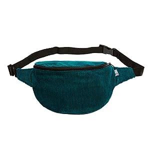 Bauchtasche, Cord breit dunkles Petrol, Hip bag, Umhängetasche, fanny pack, belt bag, shoulder bag,