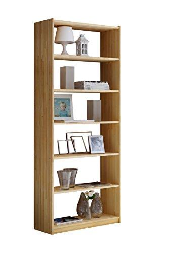 TICAA Standregal Bücherregal Fichte massiv H200 cm