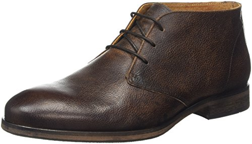 Selected Shdbolton Leather Chukka Boot, Chaussures Bateau Homme Marron - Braun (Demitasse)