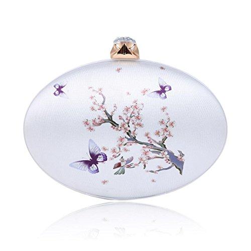 Damara® Damen Oval Chinesischer Stil Klassisch Clutch Abendtasche A