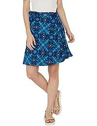 Chumbak Owl Dreams Blue A-Line Skirt