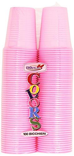 Colors Bichieri in Plastica - Confezione da 100 Pezzi