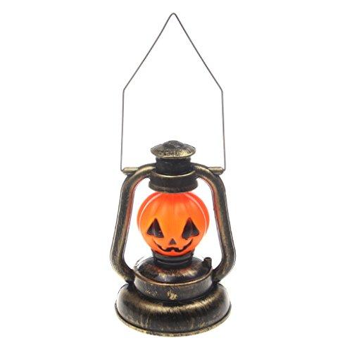 ik Tragbare Sound & Licht Emittierende Petroleumlampe - Kürbis (Musik Halloween-kürbis)