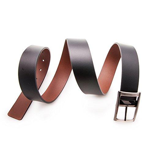 Authentique ceinture faite avec peau de vachette. Réversible. Mesures: 95-100-105-115 cm. Couleur cuir noir. cuir noir